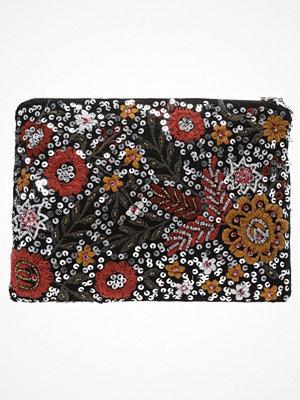 Only ONLAILEEN SEQUENCE FLOWER  Kuvertväska black mönstrad