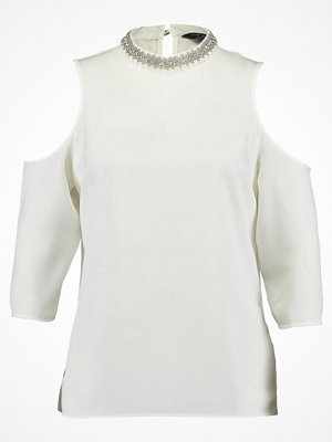 Dorothy Perkins SARA EMBELLISHED COLD SHOULDER Blus ivory off white