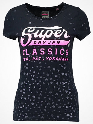 Superdry CLASSIC STAR ENTRY Tshirt med tryck eclipse navy