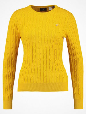 Gant Stickad tröja golden yellow