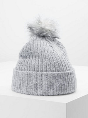 Mössor - Only ONLPAULA POM POM HAT Mössa light grey melange/grey