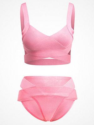 Missguided BANDAGE CROSSOVER SET Bikini bright coral
