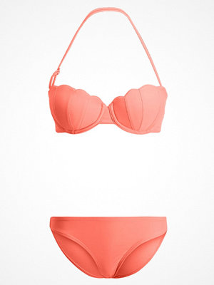 Missguided SHELL BANDEAU SET Bikini coral