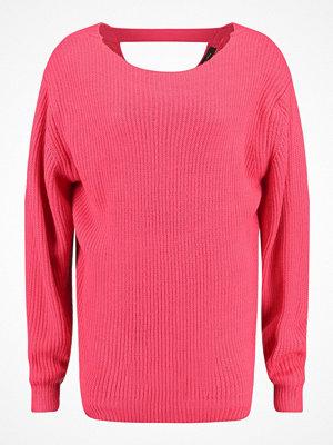 New Look STITCHY Stickad tröja bright pink