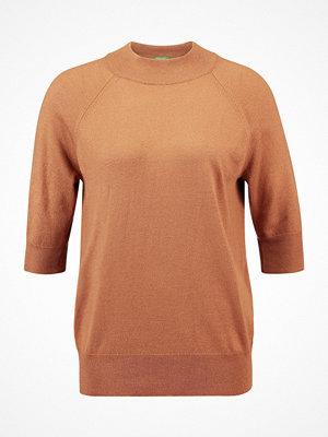 Benetton TURTLE NECK Stickad tröja brown