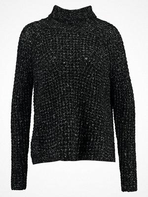 Even&Odd Stickad tröja black white