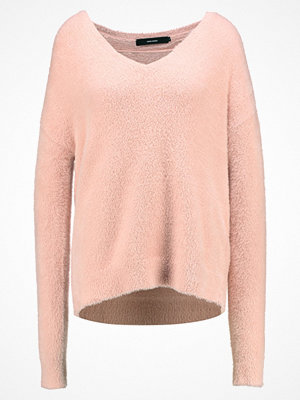 Vero Moda Tall VMMORAGA LS VNECK Stickad tröja rose cloud