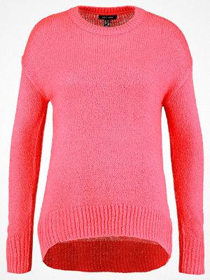 New Look LONGLINE Stickad tröja bright pink