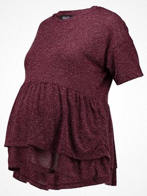 New Look Maternity C&S EMB SHOULDER TOP Tshirt med tryck dark burgundy