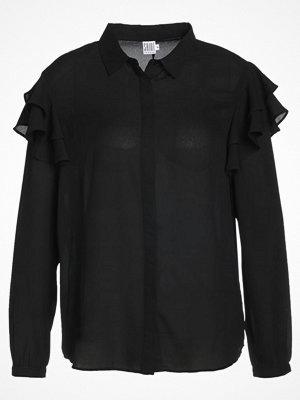 Saint Tropez RUFFLE SHOULDER  Skjorta black