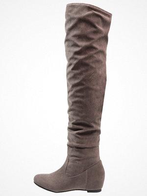 Anna Field Stövlar med kilklack dark grey