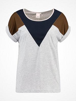Ichi KASHI Tshirt med tryck light grey melange