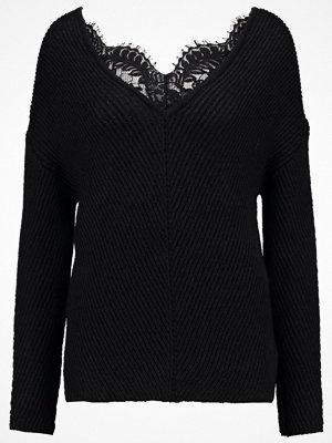 Vero Moda VMBUENA LENA NECK Stickad tröja black beauty/black