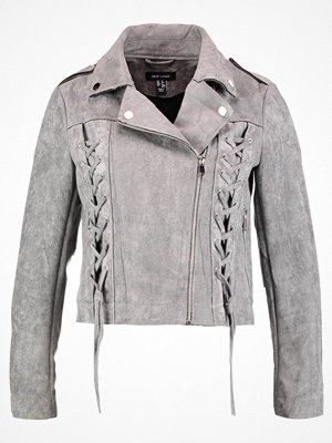 New Look BIKER  Jacka i konstläder dark grey