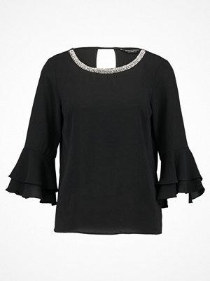 Blusar - Dorothy Perkins EMB WRAP CHOCKER Blus black
