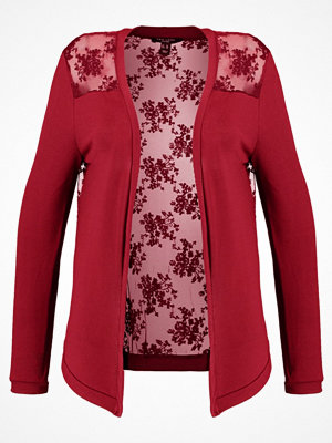 New Look Curves LACE BACK CARDI Kofta burgundy