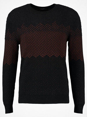 Calvin Klein SAPMA DEGRADE HERRIN Stickad tröja perfect black