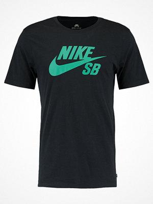 T-shirts - Nike Sb LOGO Tshirt med tryck black/neptune green