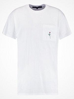 Mennace ROSE Tshirt med tryck white