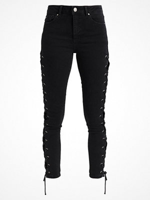 Miss Selfridge SIDE LACE LIZZIE Jeans Skinny Fit black