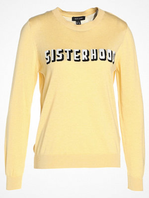 New Look SISTERHOOD SLOGAN Stickad tröja yellow