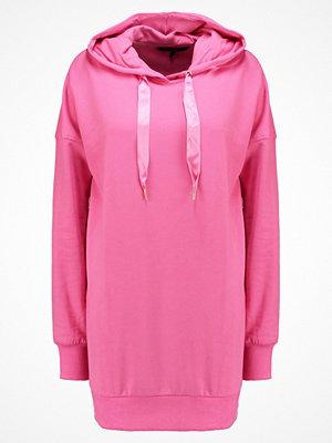 Street & luvtröjor - Vero Moda VMSERENA HOOD LONG  Luvtröja azalea pink/eyelets and stringsends