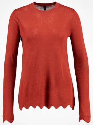 YAS YASLIAM LS KNIT PULLOVER Stickad tröja red ochre