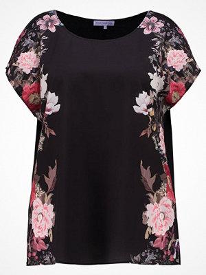 T-shirts - Anna Field Curvy FLOWER  Blus black/ rose