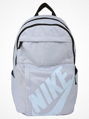 Nike Sportswear ELEMENTAL BACKPACK Ryggsäck glacier grey/black/hydrogen blue ljusgrå med tryck