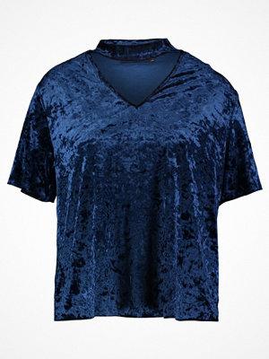 T-shirts - Even&Odd Tshirt med tryck dark blue