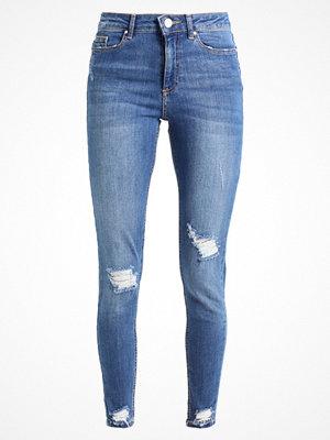 Miss Selfridge RAW HEM LIZZI Jeans Skinny Fit mid denim