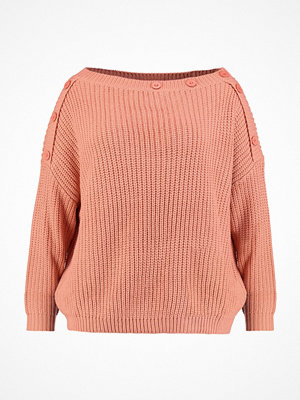 Missguided Plus Stickad tröja salmon pink