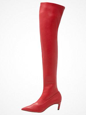 Topshop CRAWLER LEG Overkneeskor red
