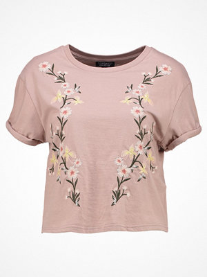 Topshop COLOURED  Tshirt med tryck cream