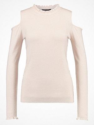 Dorothy Perkins FRILL COLD SHOULDER  Stickad tröja dark blush