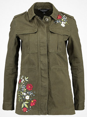 Dorothy Perkins EMBROIDERED Jeansjacka khaki