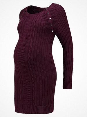 Seraphine Stickad klänning bordeaux