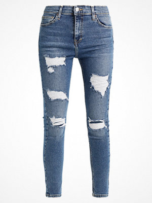 Topshop SUPER RIP JAMIE NEW Jeans Skinny Fit blue denim, blue