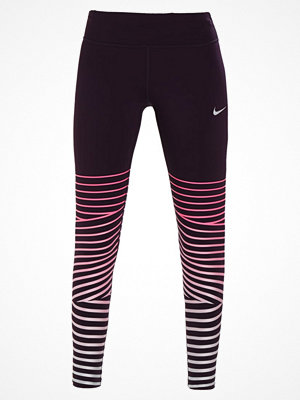 Nike Performance POWER FLASH EPIC LUX Tights port wine/reflective silver