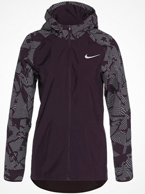 Nike Performance HOODED FLASH ESSENTIAL Löparjacka port wine/silver