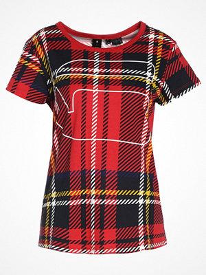 G-Star GStar X25 ROYAL TARTAN PRINT Tshirt med tryck milk/pompeian red check