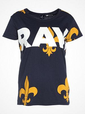 G-Star GStar X25 FLEUR DE LYS PRINT Tshirt med tryck indigo/gold ao