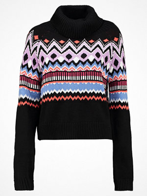 Even&Odd FAIR ISLE CROPPED JUMPER Stickad tröja black