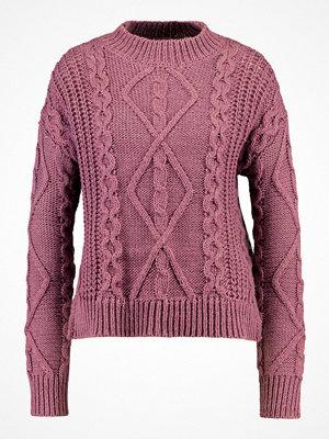 Even&Odd Stickad tröja rose