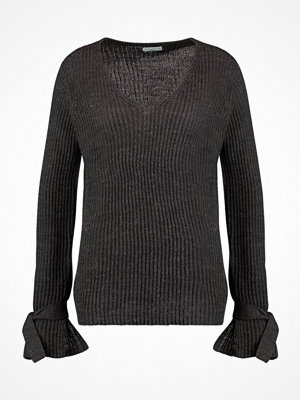 Jdy JDYMARI V NECK  Stickad tröja dark grey melange