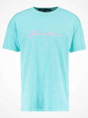 Mennace PARADISE Tshirt med tryck turquoise