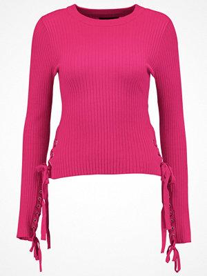Even&Odd EYELET Stickad tröja pink