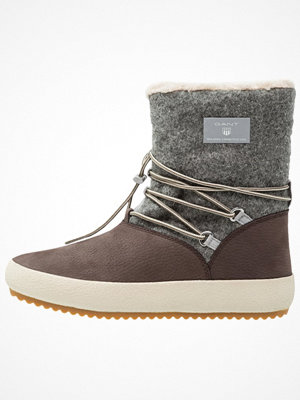 Boots & kängor - Gant AMY Vinterstövlar dark brown/grey