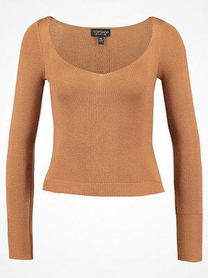 Topshop SWEETHEART NECK  Stickad tröja camel