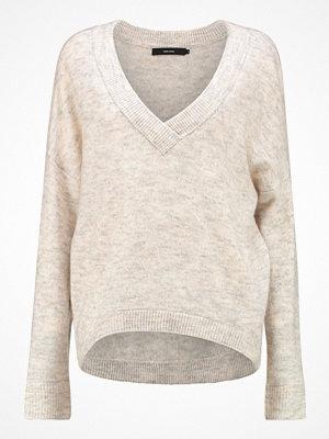 Vero Moda VMAGOURA  Stickad tröja snow white/charcoal gray/oatmeal